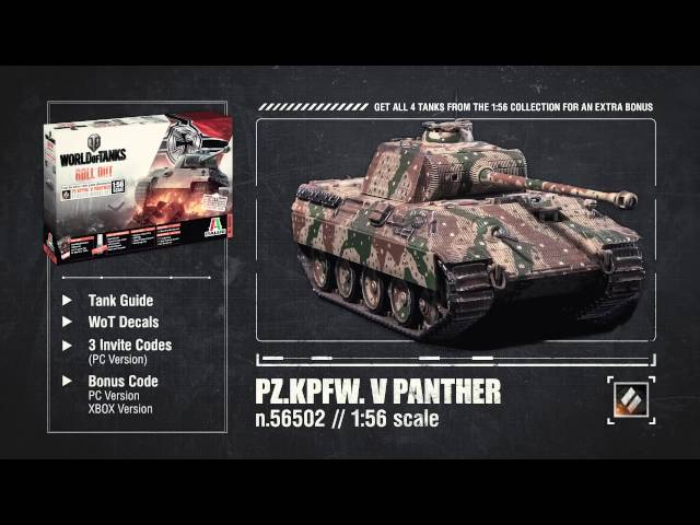 New Italeri WoT Model Kit Line 1:56 – The Armored Patrol