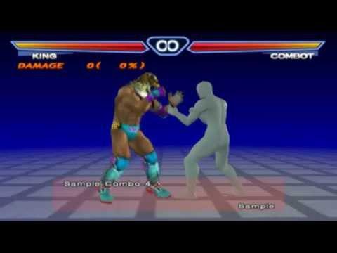 Pcsx2 Tekken 4 King Basic Combo 철권4 킹 기본 콤보 Youtube