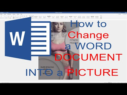 How To Change A Word Document  Into A JPEG Image (2019)