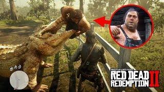 The Legendary Alligator Eats Pig Farm Brother! - Red Dead Redemption 2