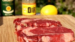 My Version Of A Perfect Grilled Rib Eye Steak - Reversed Sear Recipe - Weber Go Any Where Barbecue