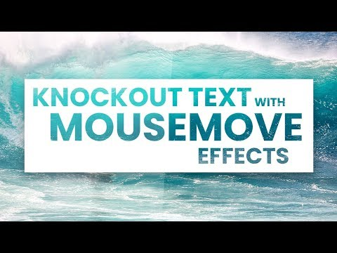 Knockout Text With Mousemove Effects | Html CSS and jQuery thumbnail