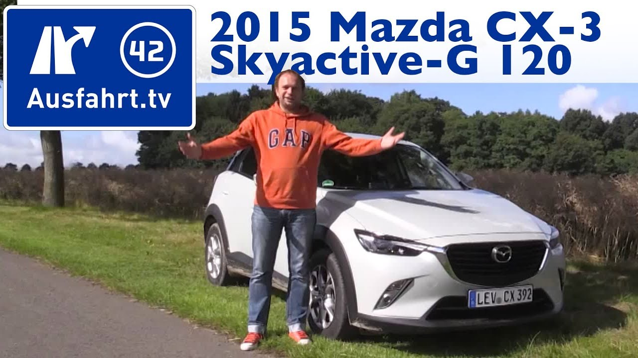 2015 mazda cx 3 skyactiv g 120 kaufberatung test review youtube. Black Bedroom Furniture Sets. Home Design Ideas