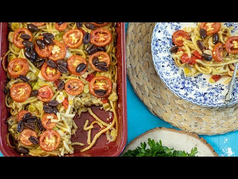 Vegetarian Leek Pastitsio from Drama: Meatless Monday Recipe!
