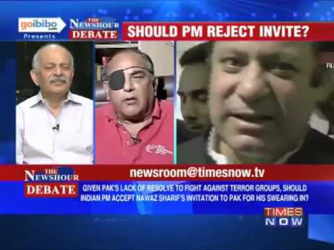 Dr Subramanian Swamy in Times Now debate   Should PM Manmohan Singh reject Nawaz Sharif s invite 2 2