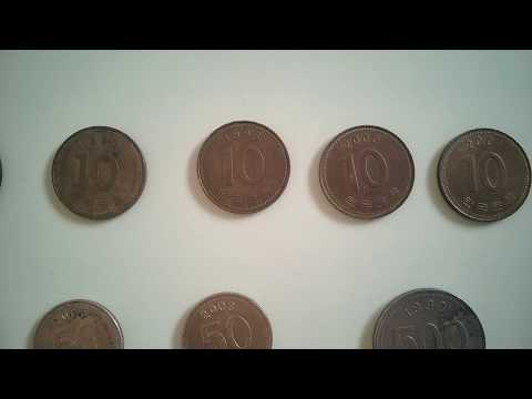 South Korean Won| 10, 50, 100, 500 won coins| 1980 to 2014