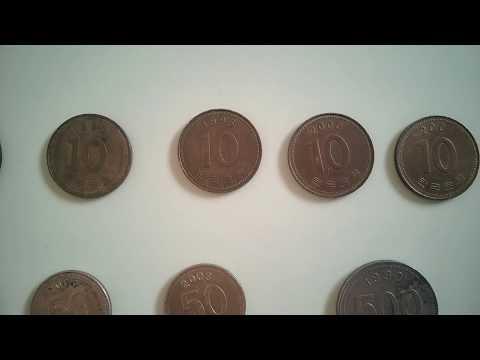 South Korean Won| 10, 50, 100, 500 won coins| 1980 to 2014