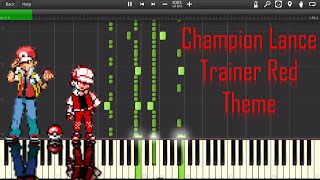 Pokemon Trainer Red/Champion Lance Battle music Piano - Synthe…