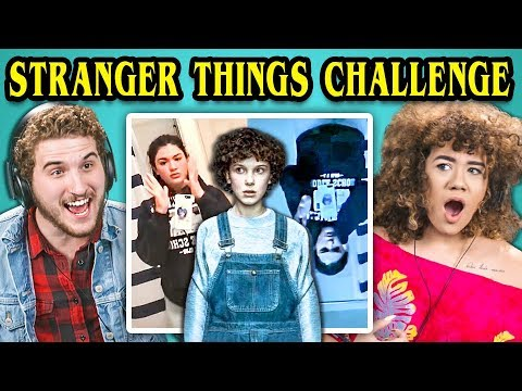 COLLEGE KIDS REACT TO STRANGER THINGS PHONE CHALLENGE (#UpsideDownChallenge)