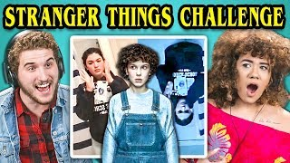 COLLEGE KIDS REACT TO STRANGER THINGS PHONE CHALLENGE (#UpsideDownChallenge)