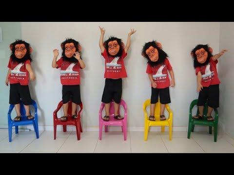 Música Cinco Macaquinhos | Chanson Cinq Petits Singes | Comptines Et Chansons | À Bébé Chanson