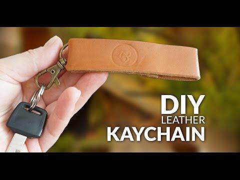 DIY leather keychain diy