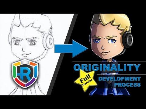 RESOLVE it - Chibi Originality Hero (Speed Process Video)