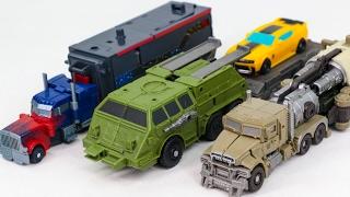 Transformers CyberVerse Mini Optimus Prime Bumblebee Megatron Weapons Platform Base Robot Car Toys