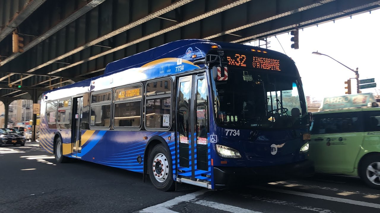 2019 New Flyer Xd40 7734 On The Bx32 At Jerome Avenue And