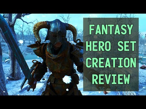 Fantasy Hero Set: Fallout 4 Creation Review. Skyrim Crossover! thumbnail