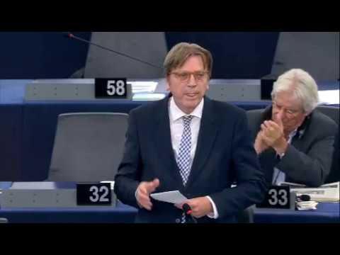 Guy Verhofstadt 04 Oct 2017 plenary speech on events in Catalonia