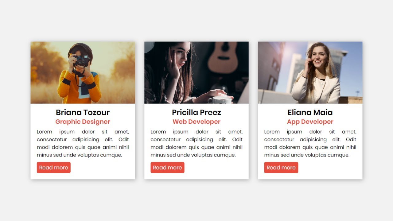 Owl-carousel Cards Slider in HTML CSS & jQuery