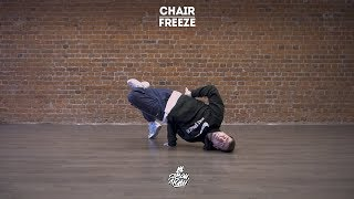"23. Chair (Freeze)   Видео уроки брейк данс от ""Своих Людей"""