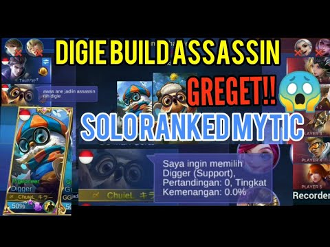 SOLO RANK MYTIC PERTAMA KALI PAKEK DIGIE BUILD ASSASSIN