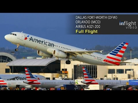 American Airlines Full Flight | Dallas Ft Worth to Orlando | Airbus A321 (with ATC)