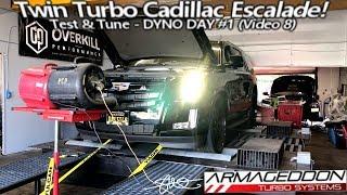 Test & Tune Dyno Day #1 - Armageddon Twin Turbo Cadillac Escalade - Stock Exhaust  (Video 8)