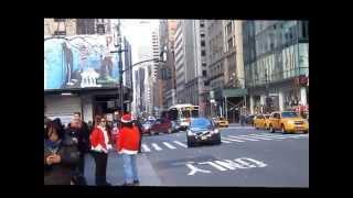 Santa Con NYC 2014 Drunken Assholes Hit Woman Get followed by crowd