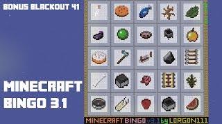 Minecraft Bingo 3.1 - Bonus Blind Blackout 41
