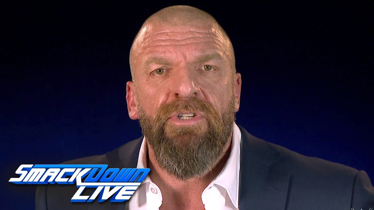 Triple H announces a WWE Championship Elimination Chamber Match: SmackDown LIVE, Jan. 29, 2019
