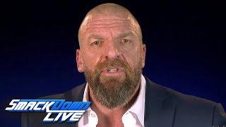 Download Video Triple H announces a WWE Championship Elimination Chamber Match: SmackDown LIVE, Jan. 29, 2019 MP3 3GP MP4