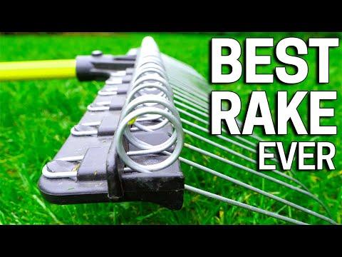 BEST Lawn Rake Ever - Spring Raking For Leaves, Dethatching & Mulch