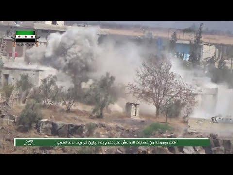 FSA forces taking on group of Daesh fighters on Jillin axis, rural west Daraa