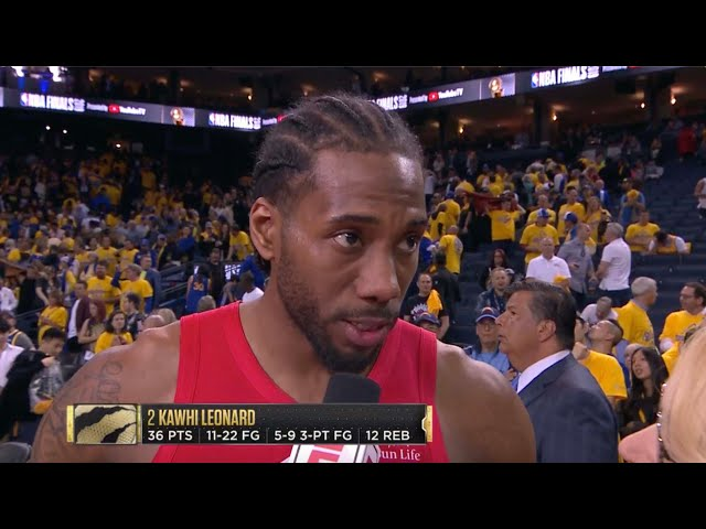 Kawhi Leonard: I dont play hero basketball. Im not playing for fans. Game 4 Postgame Interview