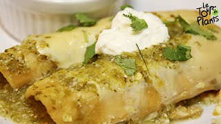 Vegan Enchiladas With Black Beans And Tomatillo Sauce | One Minute Recipes