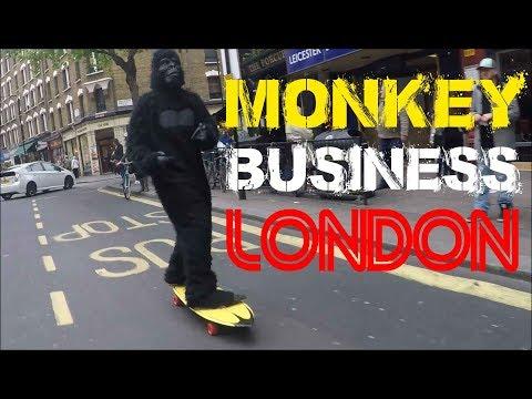 How to Skateboard Monkey Style! (London)