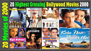 Top 20 Bollywood Movies Of 2000 | Hit or Flop | With Box Office Collection | Best Indian films 2000