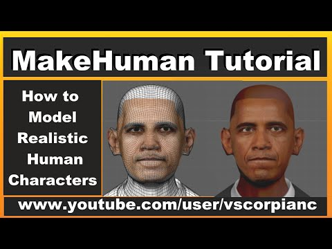 MakeHuman Tutorial - (Pt.10) How to Model Human Characters Export for Blender 3d by VscorpianC