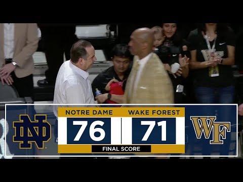 Highlights | @NDmbb vs. Wake Forest (2018)