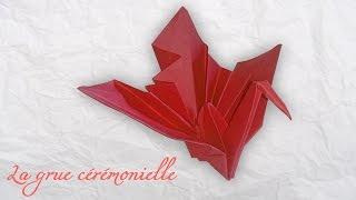 Origami : La grue cérémonielle