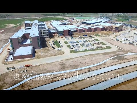 Bridgeland High School - CyFair ISD - Construction flyover - March 2017