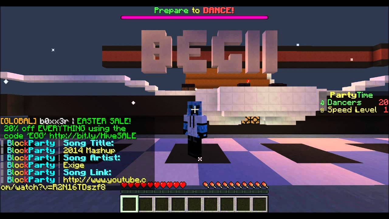 minecraft how to play block party