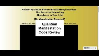 Quantum Manifestation Code Review | Is Quantum Manifestation Code Good?