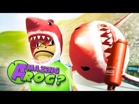 BLOWING UP THE RED MEGALODON & RED SHARK HAT - Amazing Frog Gameplay (New Amazing Frog Update)