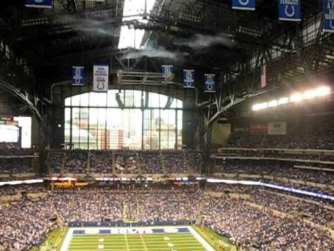 1st ever Roof / Window opening of Lucas Oil Stadium for an NFL Game