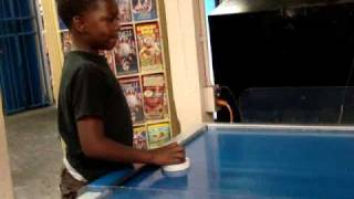 AJ & TyTy Playing Air Hockey Thumbnail