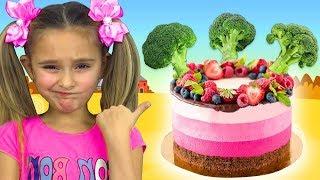 Sasha sings Do You Like Broccoli Nursery Rhym Song