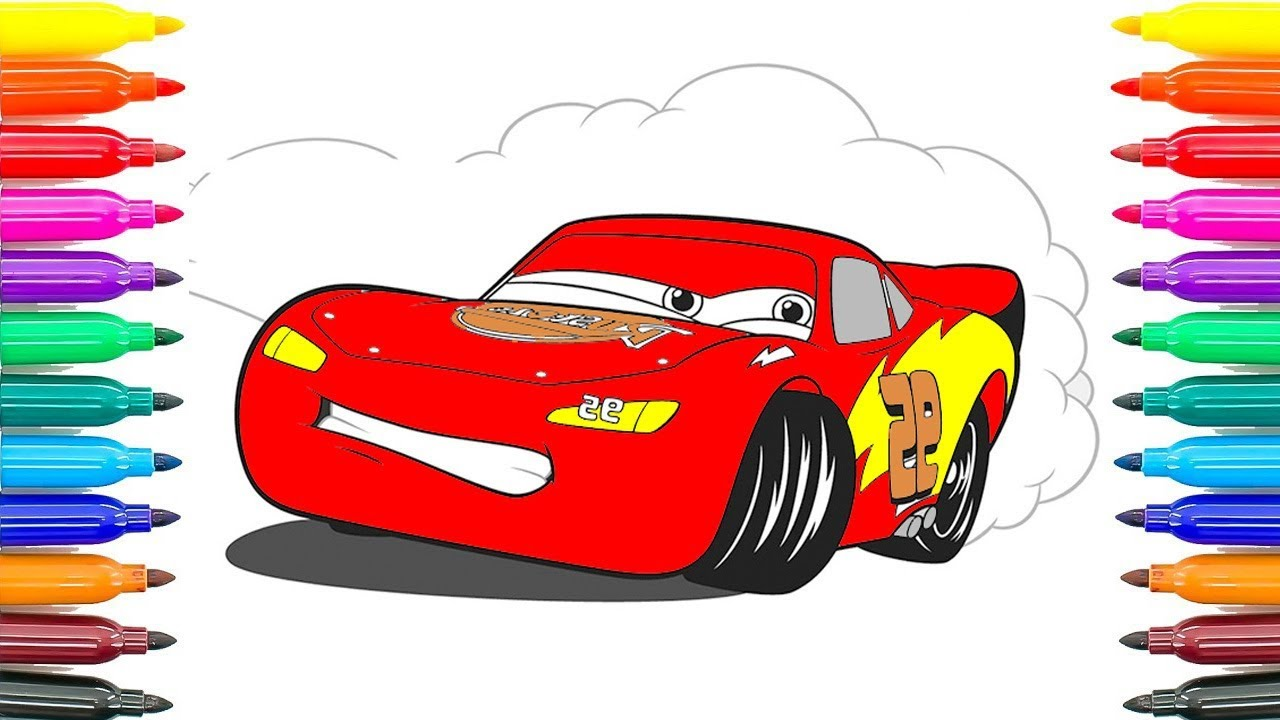How To Coloring Cars 3 Lightning Mcqueen Learning Coloring Pages