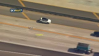 POLICE CHASE: CHP chases driver in Mercedes-Benz on 5 Fwy in Santa Clarita I ABC7