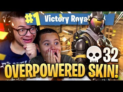 THIS *NEW* SECRET SKIN IS UNBELIEVABLE! 9 YEAR OLD BROTHER DROPS HIGH KILLS! FORTNITE BATTLE ROYALE!