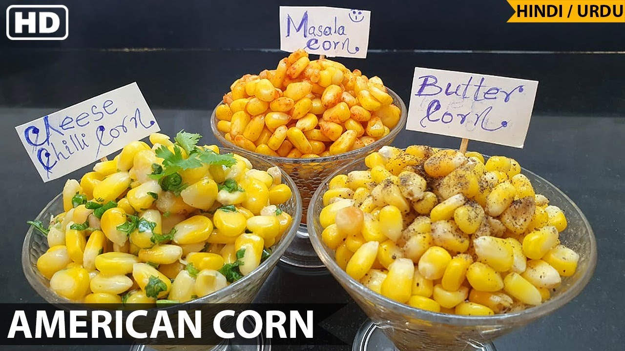 Download American Corn 3 Ways - Cheese Chilli , Masala & Butter Sweet Corn Recipe | Anjum's Kitchen